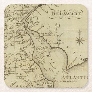 Delaware Posavasos De Papel Cuadrado