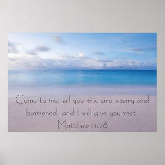 Déle el poster del 11:28 de Matthew del verso de l