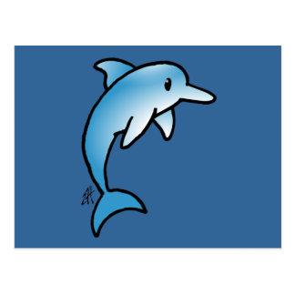 Delfín adorable postal