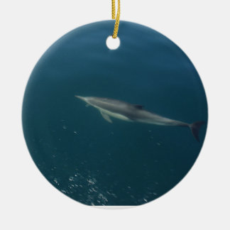 Delfín Adorno Navideño Redondo De Cerámica
