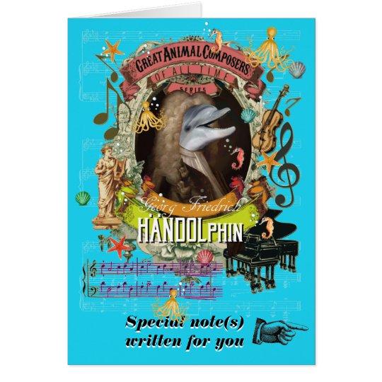 Delfín animal del compositor de Handolphin de la Tarjeta De Felicitación