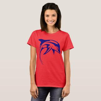 Delfín azul camiseta