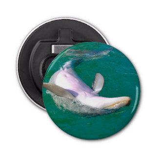 Delfín de Bottlenose al revés Abrebotellas Redondo