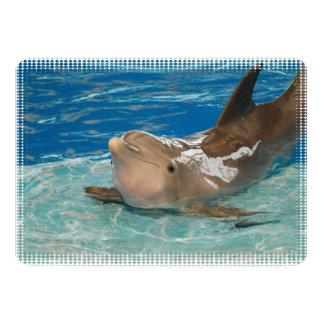 Delfín de equilibrio invitación 12,7 x 17,8 cm