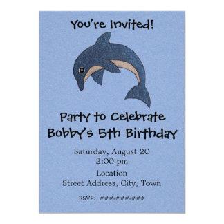 Delfín de salto personalizado de la fiesta de invitación 11,4 x 15,8 cm
