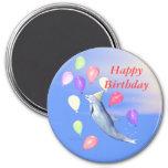 Delfín del feliz cumpleaños imán