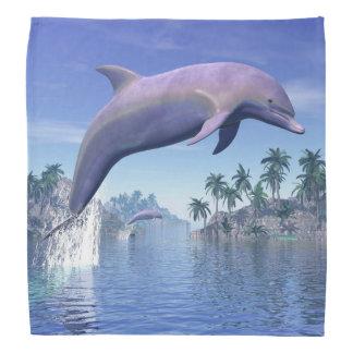 Delfín en las zonas tropicales - 3D rinden Bandana