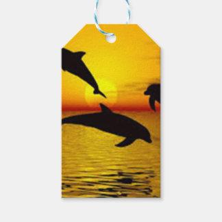 delfín etiquetas para regalos
