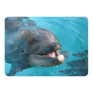 Delfín feliz invitación 12,7 x 17,8 cm