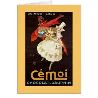 Delfín Girls1924 francés de Chocolat Tarjeta De Felicitación