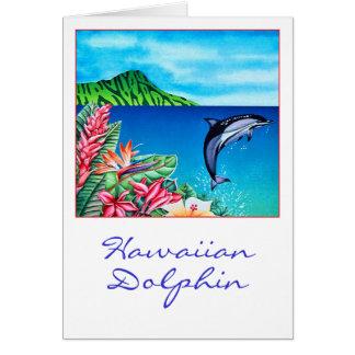 Delfín hawaiano tarjeton