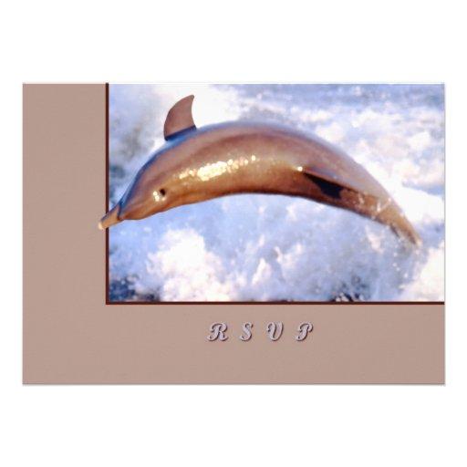 Delfín Invitación Personalizada