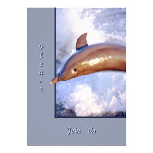 Delfín Invitacion Personalizada