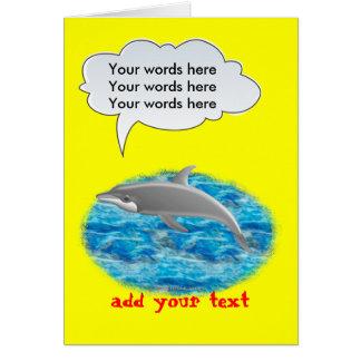Delfín que habla tarjeta de felicitación
