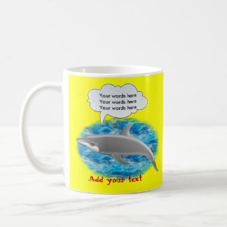 Delfín que habla taza clásica