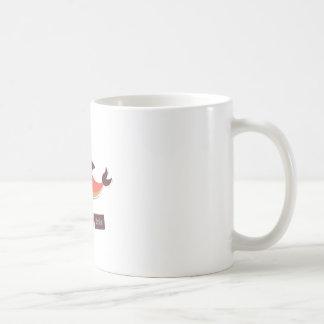Delfín rojo taza de café