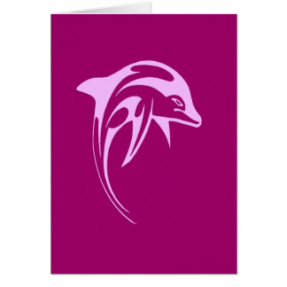 Delfín rosado tarjetas