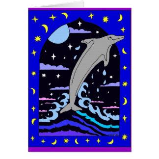 """Delfín """"salto para tarjeta de las estrellas"""""""