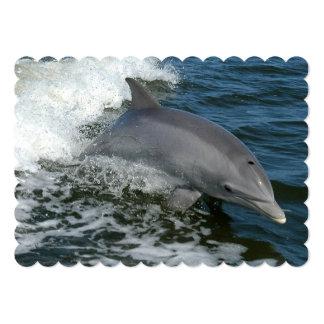 Delfín salvaje invitación 12,7 x 17,8 cm