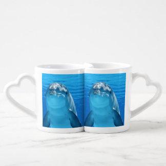 delfín set de tazas de café