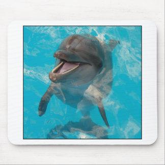 Delfín sonriente alfombrilla de ratón