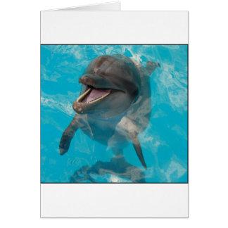 Delfín sonriente tarjetón