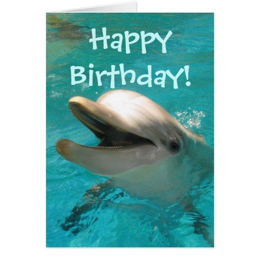 Delfín sonriente felicitación