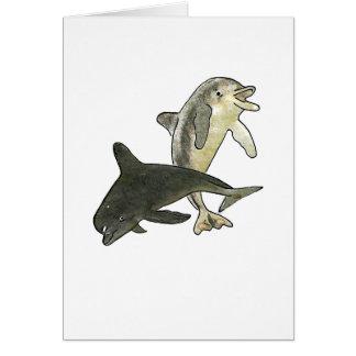 Delfínes 2 los regalos de Zazzle del MUSEO Tarjeta De Felicitación