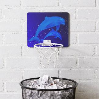 Delfínes azules mini tablero de baloncesto