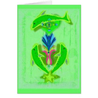 delfínes de la prosperidad tarjeta de felicitación