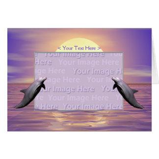 Delfínes de Sun Tarjeta De Felicitación