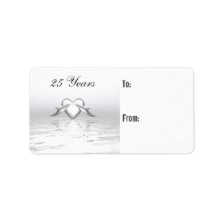 Delfínes del aniversario y etiqueta de plata del etiquetas de dirección