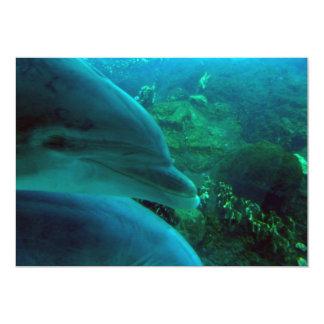 Delfínes Invitación 12,7 X 17,8 Cm