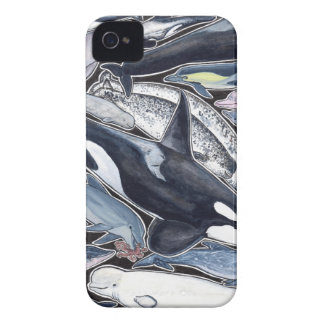 Delfines, orcas, belugas y narvales carcasa para iPhone 4 de Case-Mate