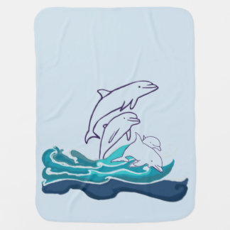 Delfínes que dibujan la manta del bebé, vida