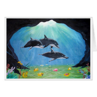 Delfínes Tarjeta Pequeña