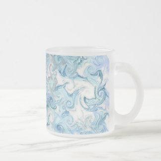 delfínes taza de café esmerilada