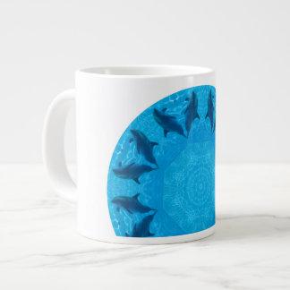 delfínes taza de café gigante