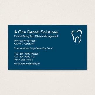 Demandas médicas dentales de la facturación tarjeta de negocios