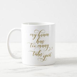 Demasiadas etiquetas abren la taza de café -