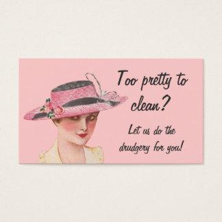 Demasiado bonito limpiar economía doméstica tarjeta de visita