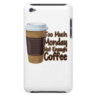 Demasiado lunes no bastante café iPod touch Case-Mate fundas