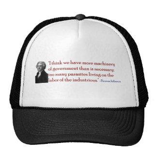 Demasiados parásitos - gorra de la cita de Jeffers