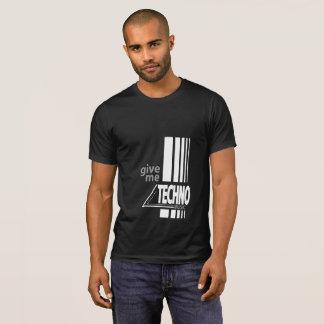 """""""Déme camiseta de la música del techno"""""""