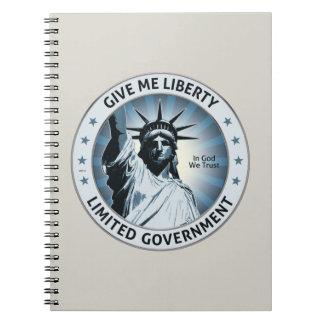 Déme la libertad libros de apuntes con espiral