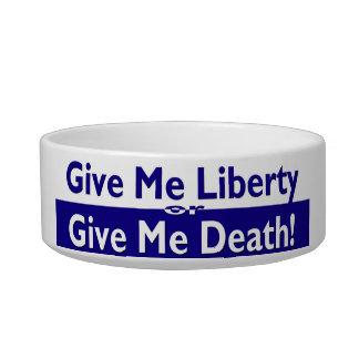 Déme la libertad o déme la muerte comedero para mascota