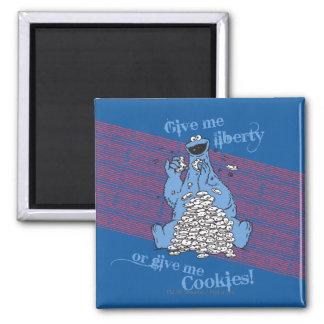 ¡Déme la libertad o déme las galletas! Imán Cuadrado