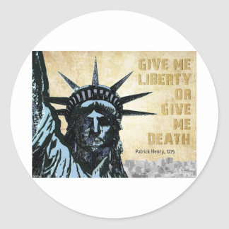 Déme la libertad pegatina redonda