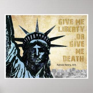 Déme la libertad póster