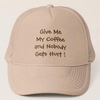 Déme mi gorra del camionero del café